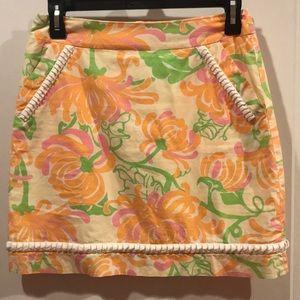 Lilly Pulitzer trim detail skirt